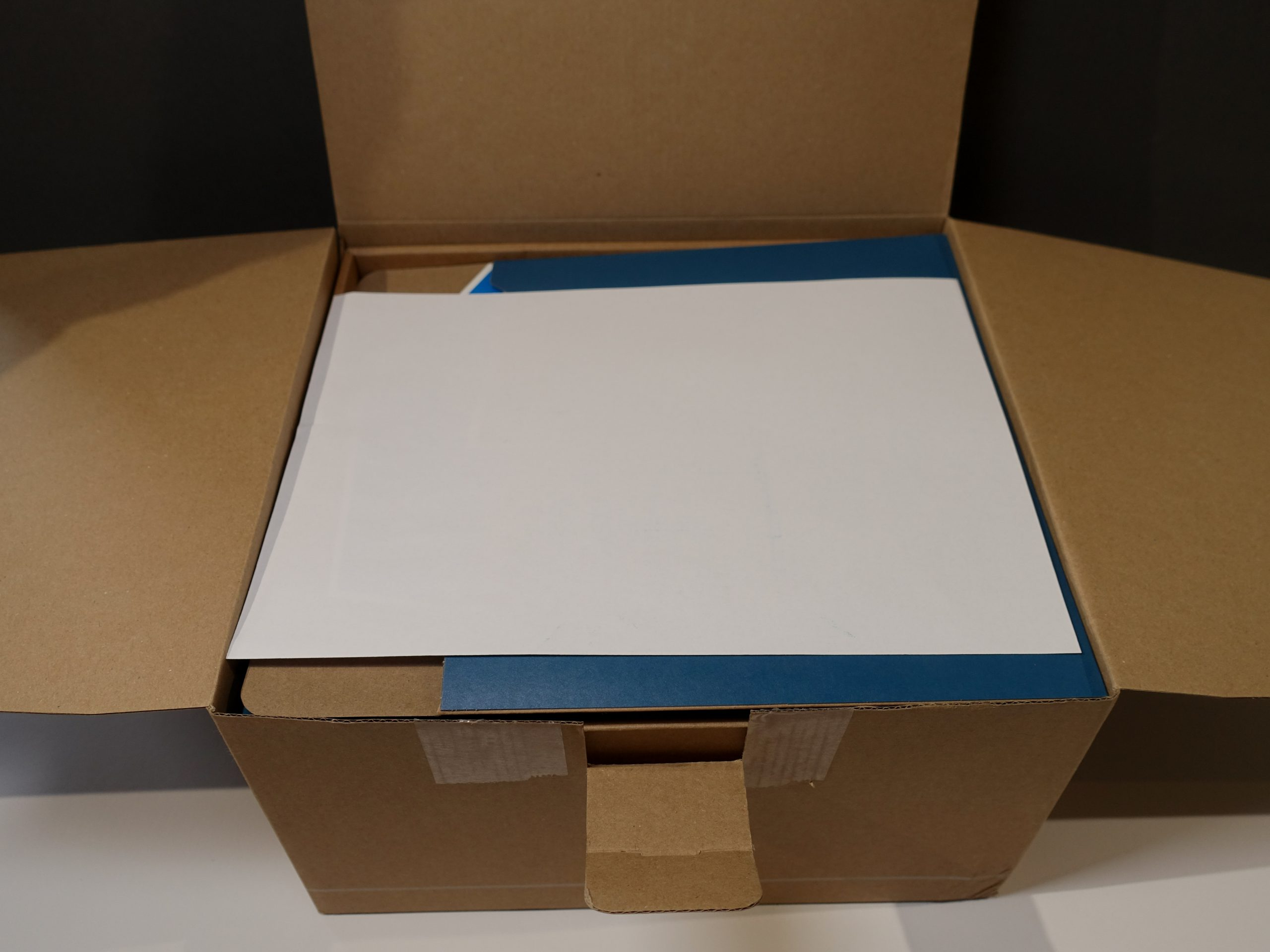 First inside view of SimpliSafe Packaging