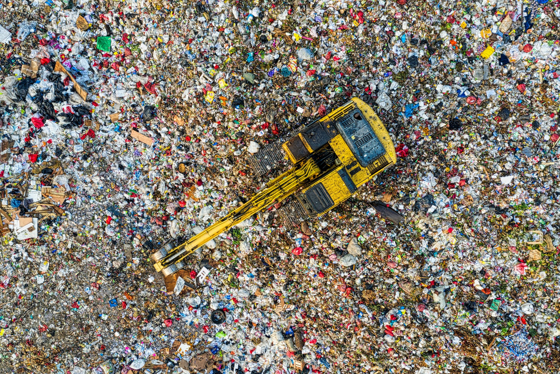 bird s eye view of landfill during daytime
