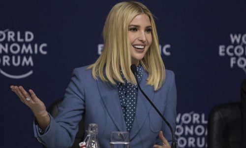 Ivanka Trump speaks during the World Economic Forum in Davos, Switzerland, on Jan. 22, 2020. Photographer: Gem Atkinson/Bloomberg